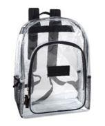 Mesh side pockets are allowed on clear backpacks