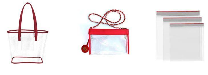 Clear totes, purses and bags are allowed